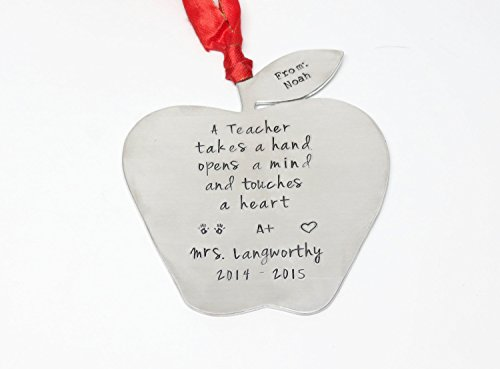 Personalized Apple Ornament width=
