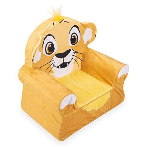 Marshmallow Furniture Comfy Foam Toddler Chair Kid's Furniture for Ages 18 Months and Up, Disney's The Lion King