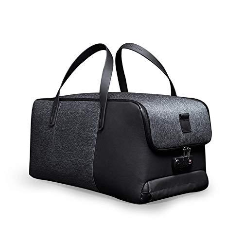 XMYL Ocio Gran Capacidad Plegable Bolsa De Viaje USB Cargando Bloqueo De Aduanas Antirrobo Bolso Negro 51 * 26 * 26cm