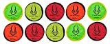 Flippy Flopper Flying Disc for Dogs (10-Pack, Large)