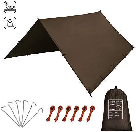 KALINCO Zeltplane Tarp für Hängematte Regenschutz Sonnensegel für Ourdoor Camping Wasserdicht Anti-UV