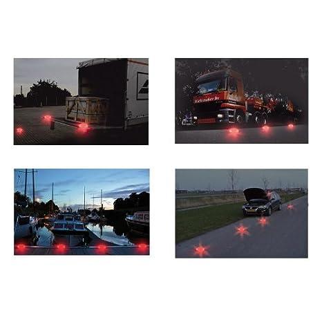 Warnblinkleuchte 16 LED orange Warnsignal Warnleuchte Warnblitzer 1km Sichtweite
