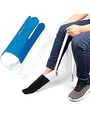 Sock aid tool-Socks Helper&Pants Assist straps for seniors, Disabled,Pregnant, Diabetics - Pulling Assist Device,Fanwer(Blue)