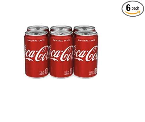 Coca Cola Cinnamon 6 Pack Limited Edition7.5oz mini cans