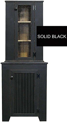 Sawdust City Corner Hutch (Solid Black) Many Colors - Pine Hutch Solid