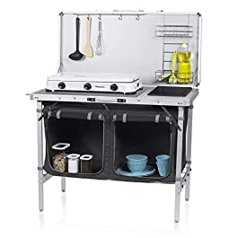Campart Travel KI-0757 Outdoor Kitchen Granada – Complete Kitchen – Storage Bag Included