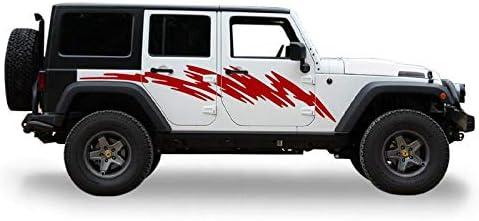 Decal Sticker Vinyl Side Rear Mud Splash Kit for Jeep Wrangler JK Door Offroad