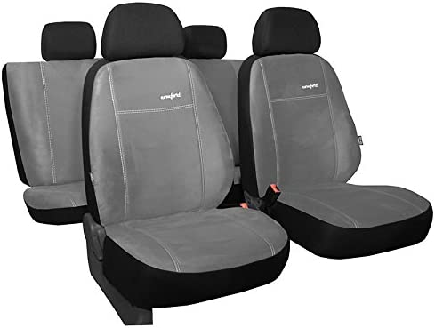 Pokter Alc T5 Multivan 7 Sitzer Maßgefertigte Sitzbezüge Comfort Hellgrau Auto