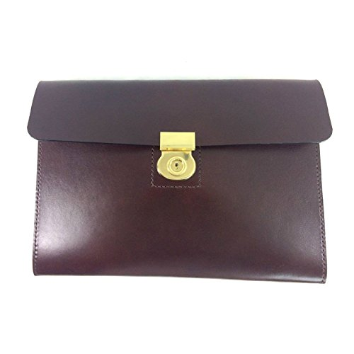 English Bridle leather brown portfolio by Marcellino NY Leathercraft