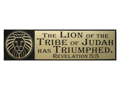 The Lion Of The Tribe Of Judah Bumper Sticker Pack of 6 Revelation 5:5 (Revelation Pack)