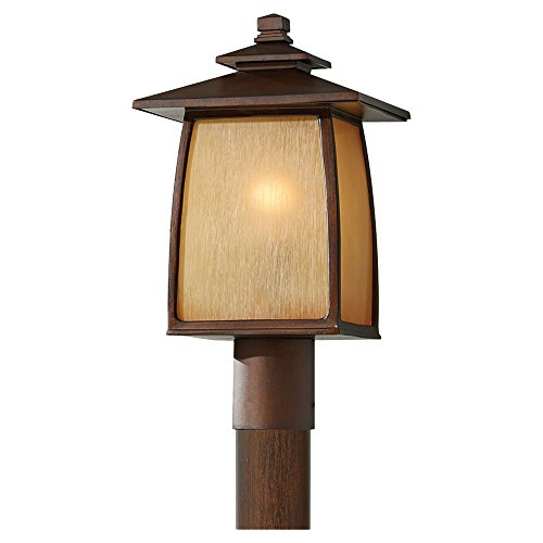 Murray Feiss Outdoor Fixtures (Murray Feiss OL8508SBR Home Solutions Wright House 1-Light Outdoor Post Lantern, 9