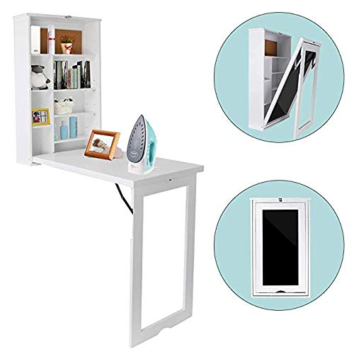 - TILEMALL Fold Out Wall Mounted Convertible Writing Floating Desk - White