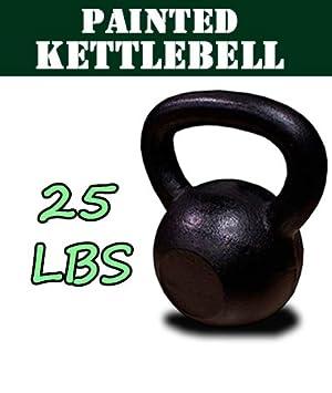 New 25 kg de hierro fundido pesas rusas peso mancuernas Kettlebell: Amazon.es: Deportes y aire libre