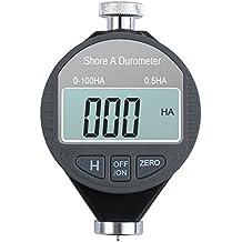 AUTOUTLET Digital Shore A Hardness Durometer 100HA Tester Tire Rubber LCD Display Meter 0-100HA