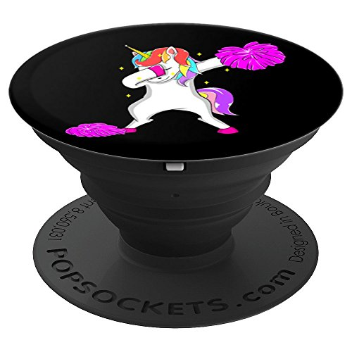 Cheerleader Dabbing Unicorn Girls Women Teens Cheer Team - PopSockets Grip and Stand for Phones and (Cheers Ladies Tee)
