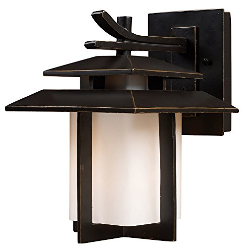 - Kanso 1 Light Outdoor Sconce in Hazlenut Bronze
