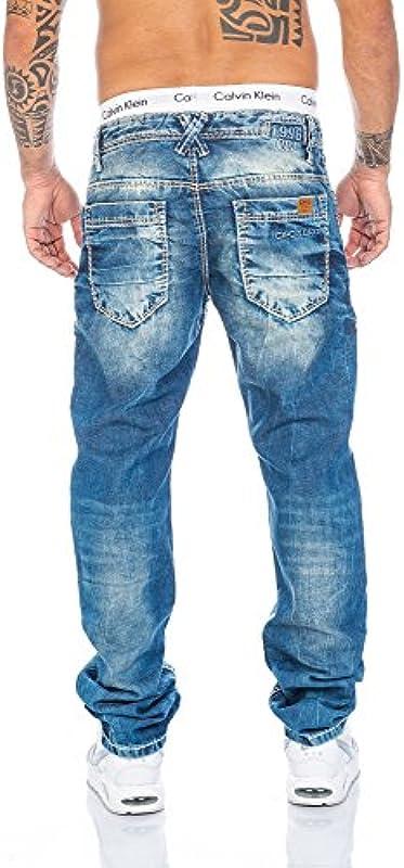 Cipo & Baxx dżinsy męskie ze szwami: Odzież