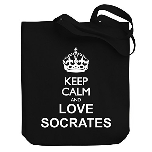 Teeburon Keep calm and love Socrates Canvas Tote Bag by Teeburon