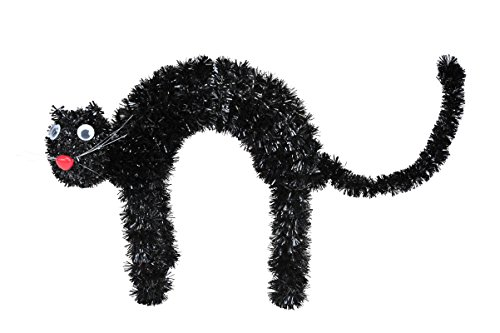 Halloween House Mini Tinsel Cat Table Décor - 1 (Last Minute Diy Halloween Costumes)