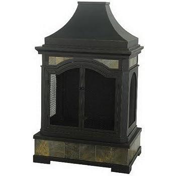 Sunjoy 110504010 Monroe Slate Steel 32 68 X 22 24 X 53 15 Fireplace