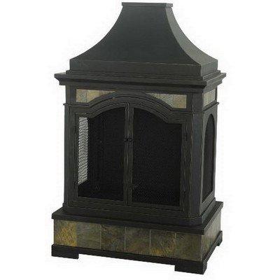 Sunjoy Monroe Slate Steel 32.68″ x 22.24″ x 53.15″ Fireplace