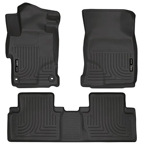 Husky Liners 99441 Black Weatherbeater Front & 2nd Seat Floor Liners Fits 2014-2015 Honda Civic EX/EX-L 4 Door
