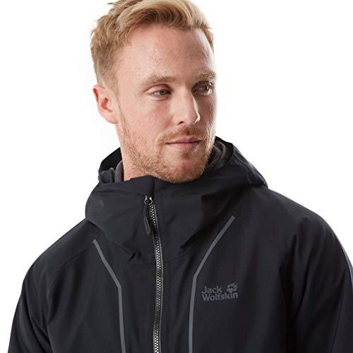 Sierra Ski Jacket Windproof Wolfskin Mens Black Jack Waterproof Trail 3in1 0waEx1q