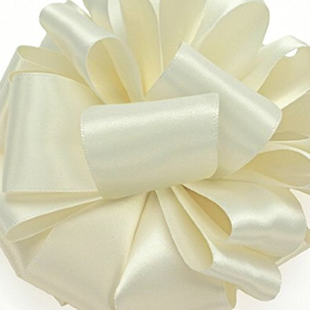 Offray Double-Face Satin Ribbon 5/8 Inch 100 Yards Antique White, Several Colors + Custom Print ()