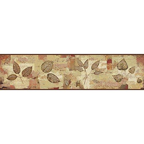 York Wallcoverings BP8347BD Pressed Leaves Border