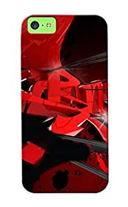 Catenaryoi Premium Red Black Graffitti Heavy-duty Protection Design Case For Iphone 5c
