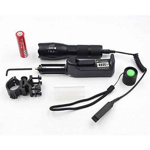 New Option A, T6 : Z30 Caa luz 5000lm XM-L L2 led lanterna ttica torch zoomable 5 Modos Ajustvel com arma de montagem interruptor de controle remoto