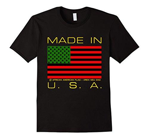 Mens African American Flag T-Shirt Large - Rbg Usa