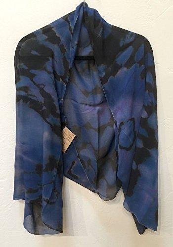 Lorie McGirr Shrug - Blue Purple Reverse Shibori Chiffon 60''x20''