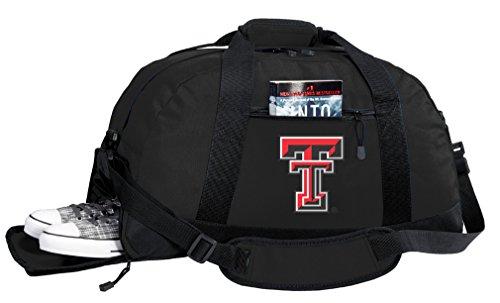 NCAA Texas Tech Duffel Bag - Texas Tech Red Raiders Gym Bags w/SHOE POCKET by Broad Bay