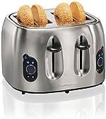 Hamilton Beach Brands 697046430306 Hamilton Beach 24702 Digital 4-slice Toaster, Brushed
