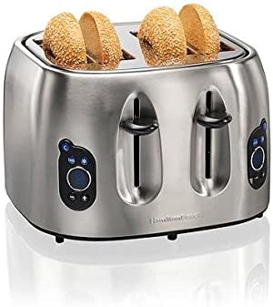 Hamilton Beach Brands 697046430306 Hamilton Beach 24702 Digital 4-slice Toaster, Brushed Stainless