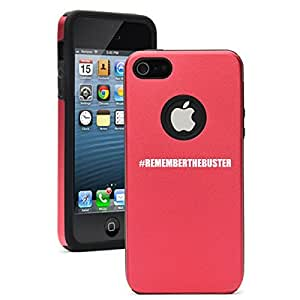 Apple iPhone 5c Aluminum Silicone Dual Layer Hard Case Cover #rememberthebuster Paul Walker (Red)