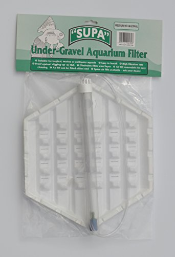 Angels Aquatics & Pet Supplies Hexagon Aquarium Fish Tank Under Gravel Filter Medium Hexagon 12.5' x 7'