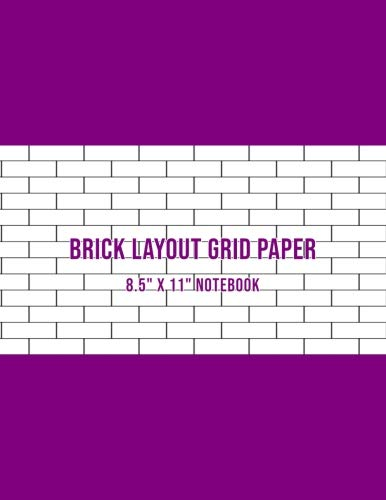 Speciality Patterns - Brick Layout Grid Paper: Use For Beadwork Pattern And Embroidery Smocking Design Beading Graph Paper Notebook - Purple Cover (Large 8.5