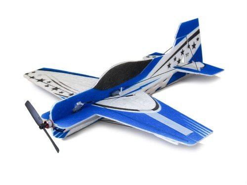 RC Plane 4CH Radio Remote Controlled Electronic Aircraft Blue 3D SAKURA Wingspan 417mm EPO Micro Airplane Model kit