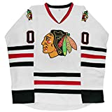 Clark Griswold #00 X-Mas Christmas Vacation Movie Hockey Jersey Stitched Men Ice Hockey Jerseys (White, S)