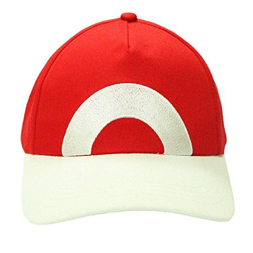 XCOSER Pokemon Ash Hat Ketchum Game Cosplay Costume Pokemon Hat Cap