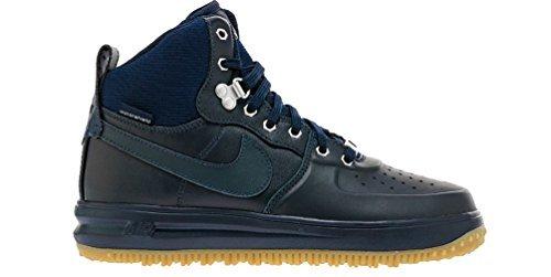 Nike Lunar Force 1 Sneaker Boot Dark Obsidian/Dark Obsidian (Big Kid) (4.5 M US Big Kid)