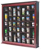41 Shot Glass Display Case Holder Cabinet Wall Rack with...