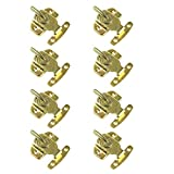 Unime 8 Pcs Table Locks Dining Table Buckles Connectors Brass Dining Table Lock