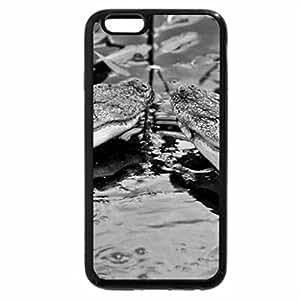iPhone 6S Plus Case, iPhone 6 Plus Case (Black & White) - Crocodiles