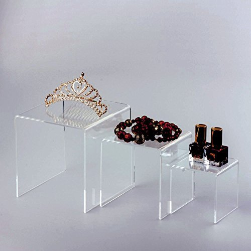 Adorox Top Quality (2 Set) Clear Acrylic Display Riser by Adorox (Image #5)