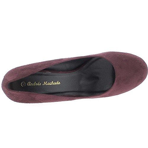 Scarpe da donna grandi dimensioni tacco 9,5 cm di prugna