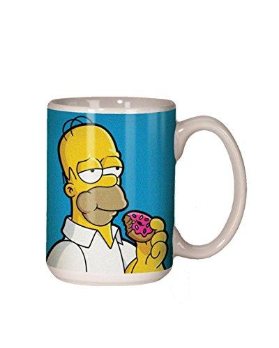 Spoontiques Homer Simpson ceramic Coffee Mug, Blue