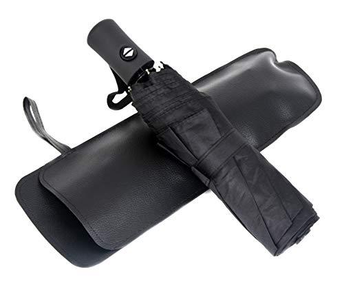 BESTFUN Travel Umbrella - Sun&Rain Compact Umbrella for Men Women and Kids, Windproof Automatic Lightweight Unbreakable Umbrellas (Black) by BESTFUN